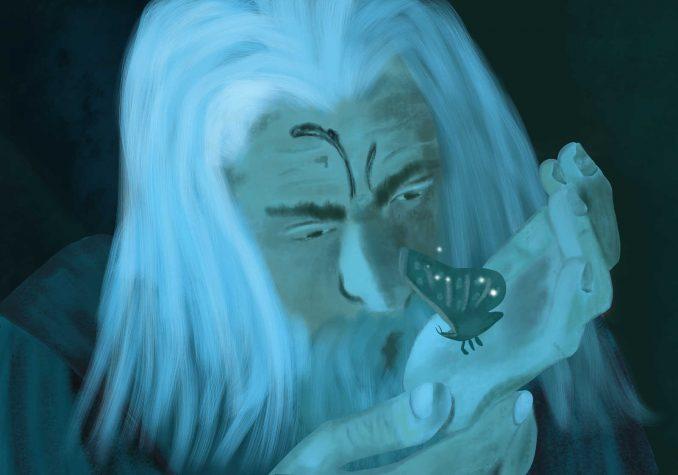 Gandalf and a moth