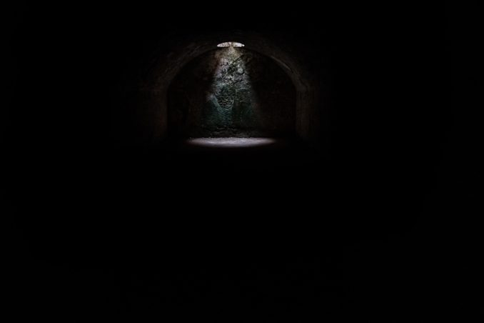 Cave with a single light
