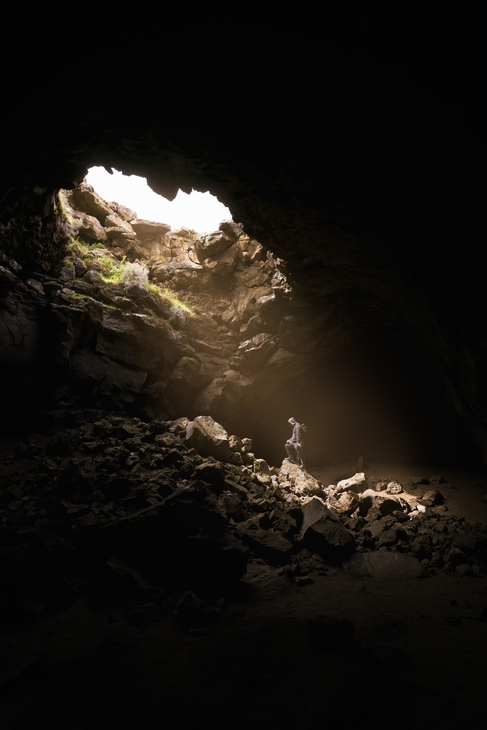 Alone in a cave