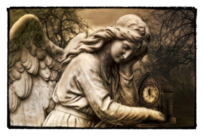 Angel crying