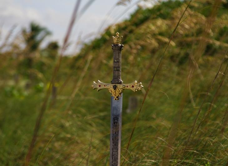 Sword in high grass