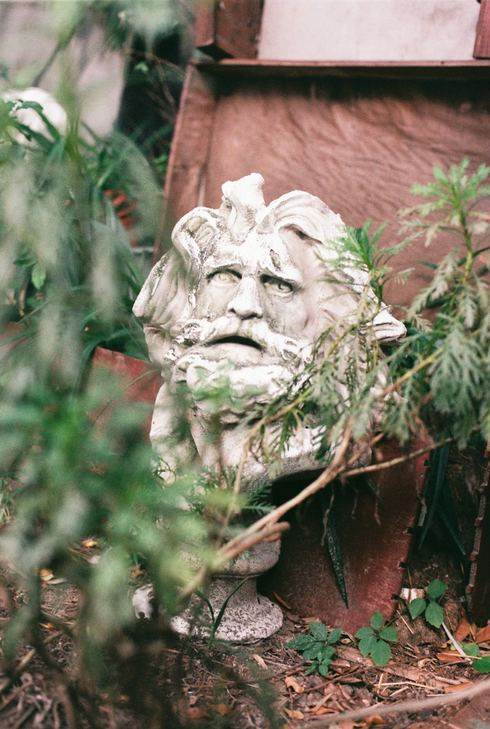 A head bust of a man