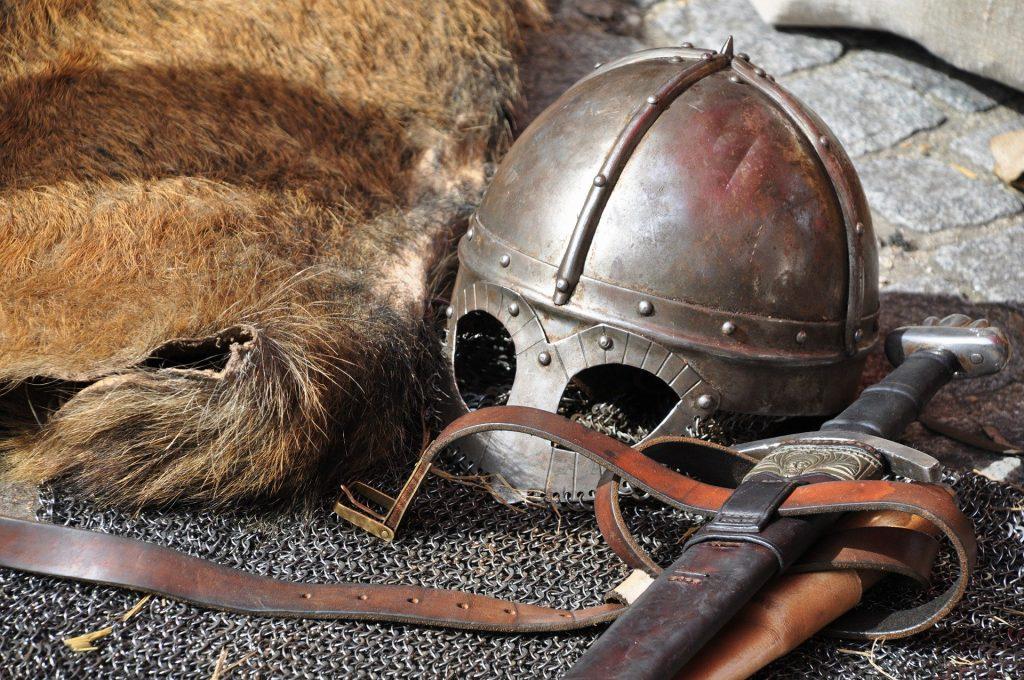Helmet and a sword