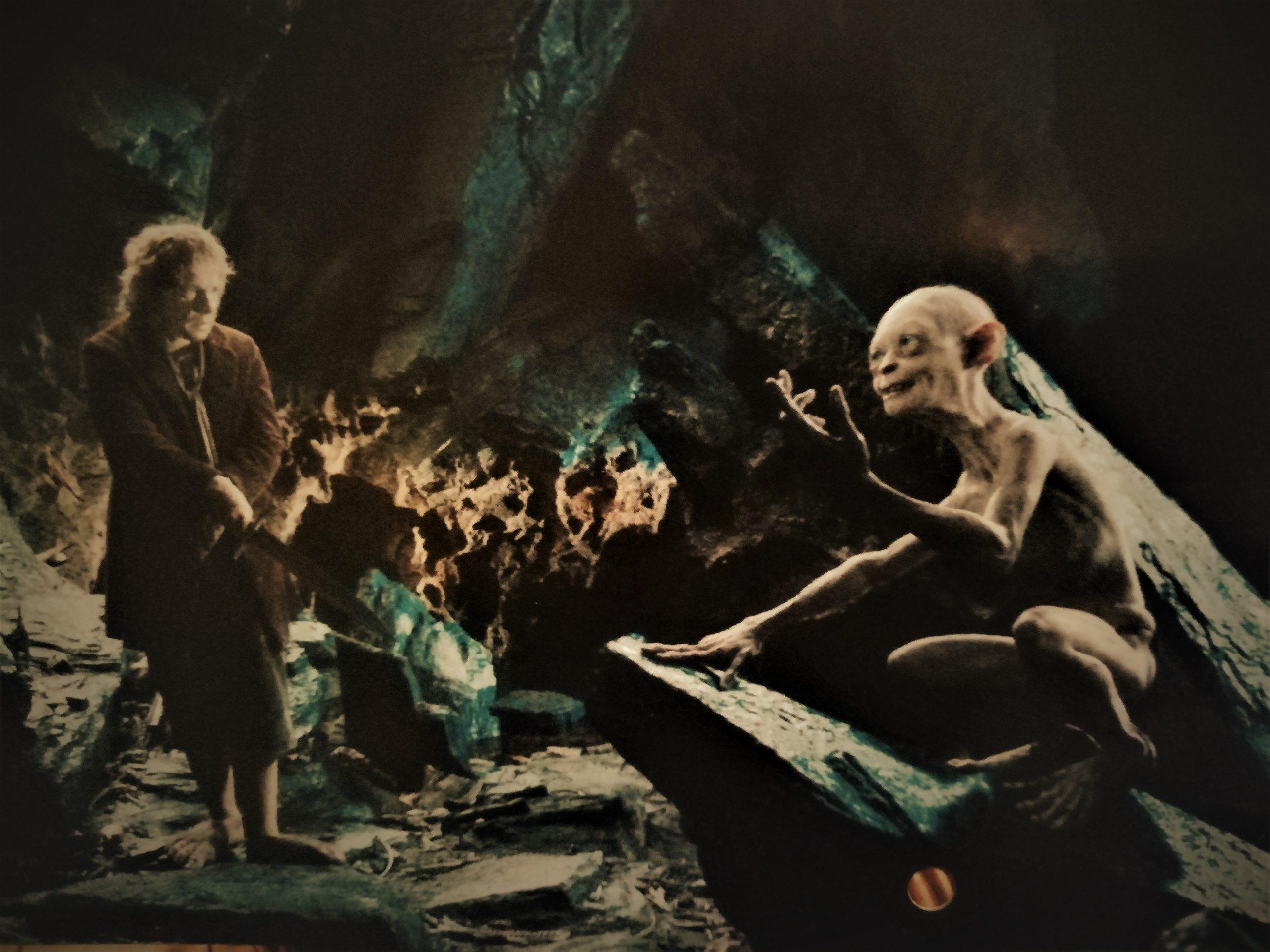 Bilbo and Gollum