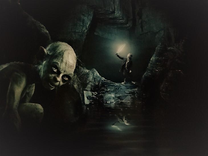 Gollum and Bilbo